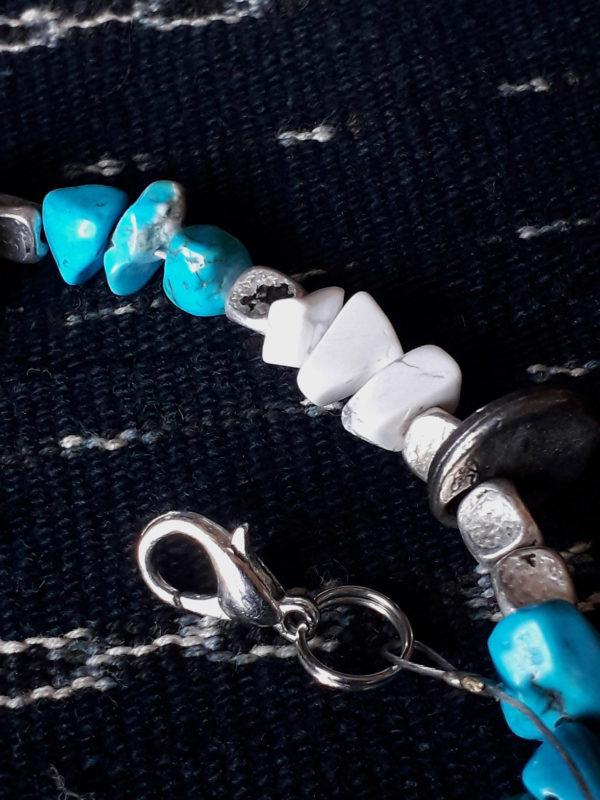 Collier perles turquoises